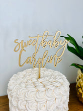 "Load image into Gallery viewer, Personalized Sweet Baby Name Cake Topper, 6""W"