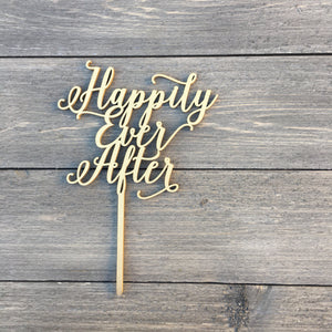 "Happily Ever After Cake Topper, 6.5""W"