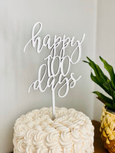 "Load image into Gallery viewer, Happy 100 Days Cake Topper, 5.5""W"
