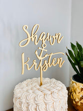 "Load image into Gallery viewer, Personalized Name Anchor Name Cake Topper, 6""W"