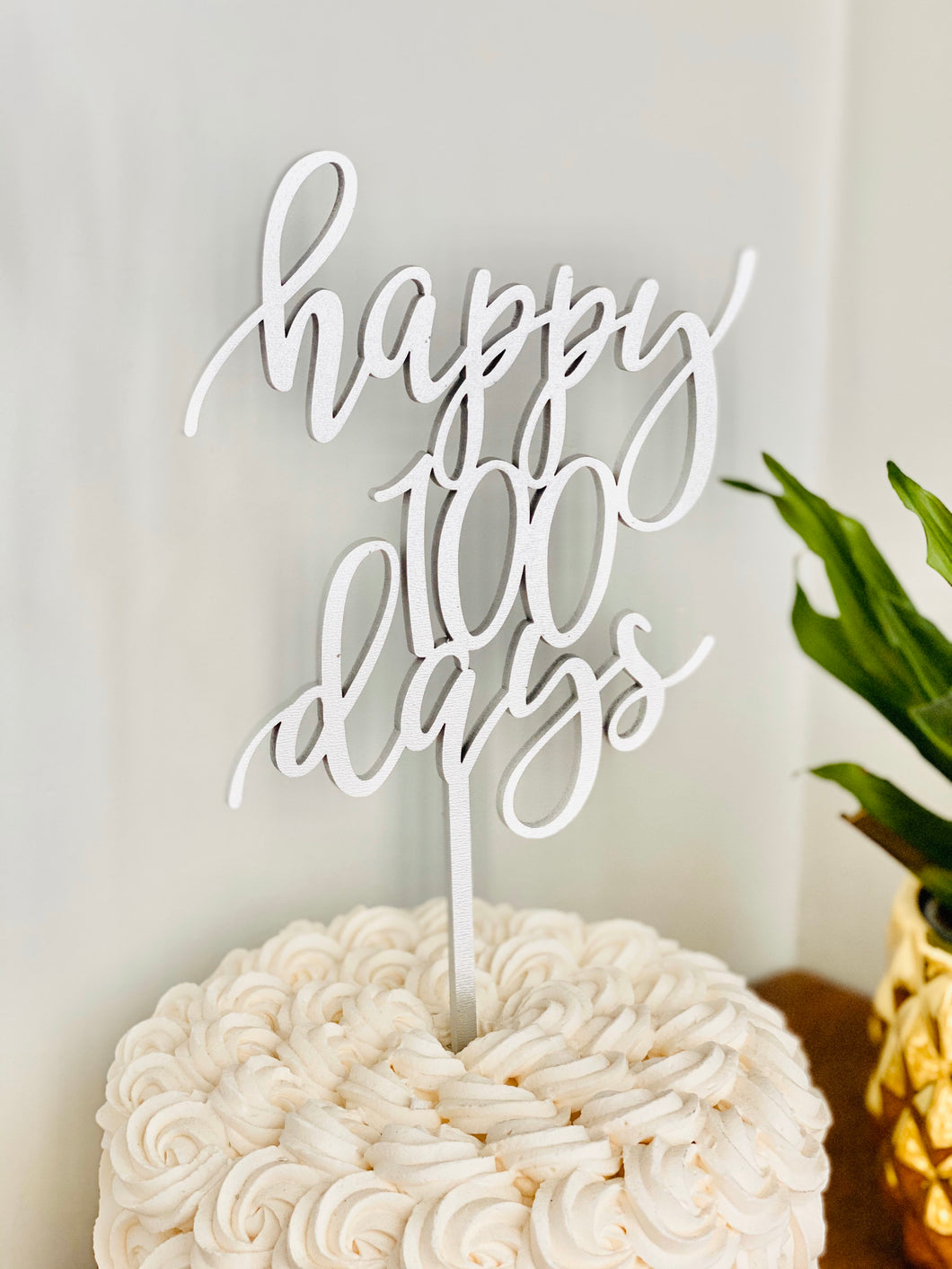 Happy 100 Days Cake Topper, 5.5