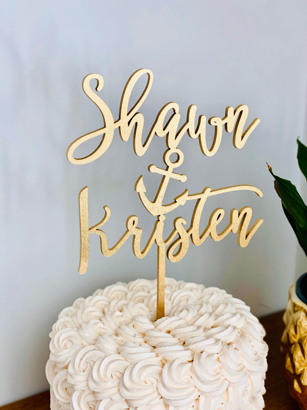 Personalized Name Anchor Name Cake Topper, 6