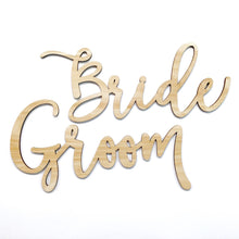 Load image into Gallery viewer, Bride & Groom Chair Signs