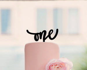 "One Cake Topper, 6""W"