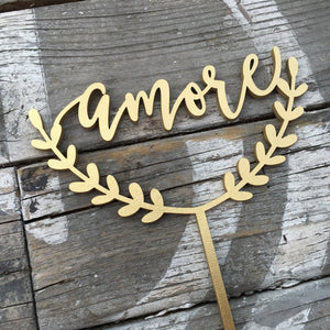 "Amore Cake Topper, 6""W"