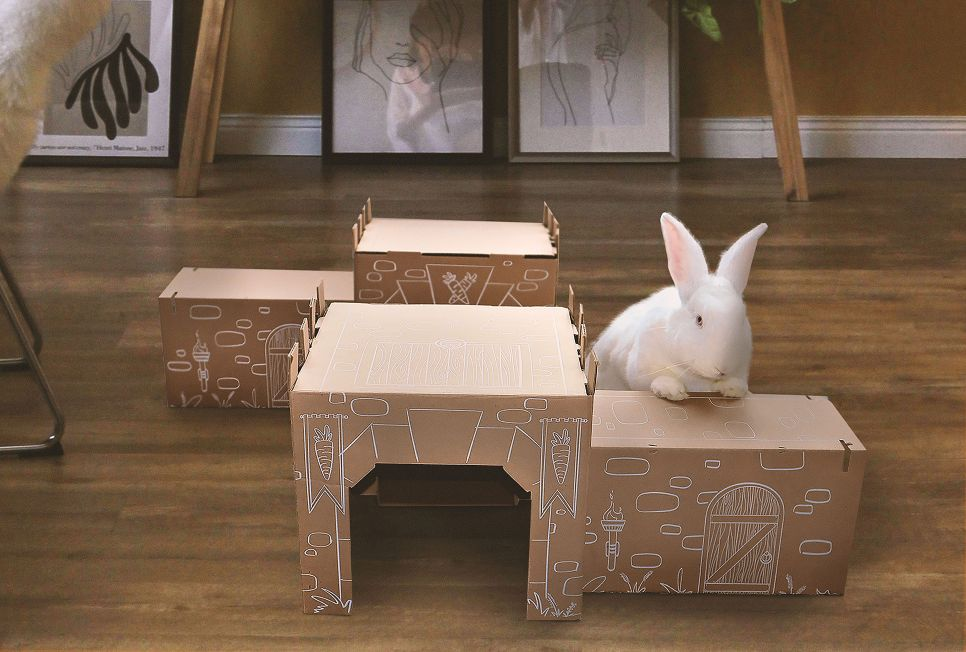 Bunny Maze - The enrichment toy your rabbit needs