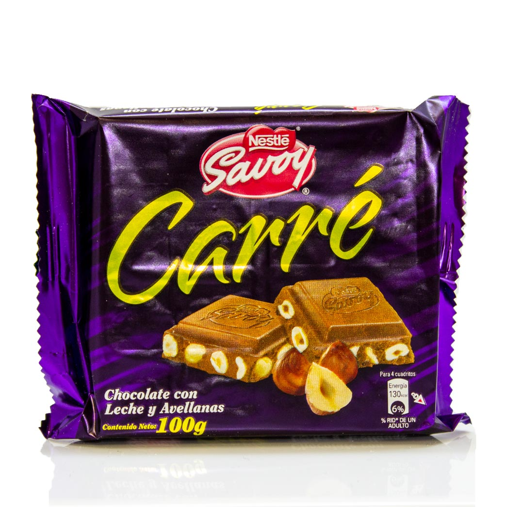 Nestle Savoy Carré Chocolate With Hazelnuts