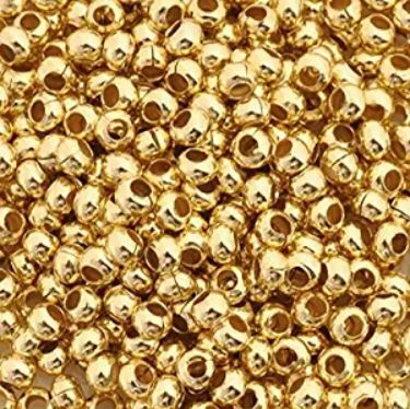 Crimp Beads & Tubes 800pcs (1.2mm) Gold Plated