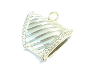 Wholesale 12pcs Scarf Jewelry Gold Plated Striped Scarf Bails CCB Charm Pendants Wholesale Scarf Accessory
