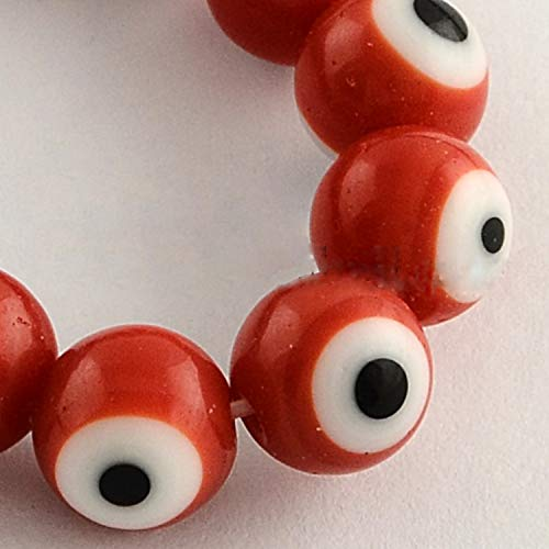 8mm Red Evil Eye Beads for Making Jewelry Bracelets Or Necklace
