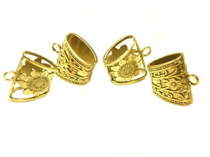 40X29X20mm Zinc Alloy Gold Plated Floral Scarf Bails Charm Pendant Accessories S6922 Sold 4pcs