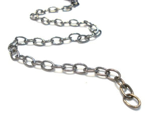 32 ft Gunmetal Cable Link Iron Metal Chain Findings 6.6X4mm, Thick 1mm Y1903