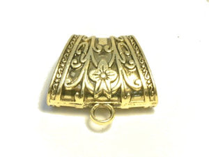 8pcs 40X29X20mm Zinc Alloy Gold Plated Floral Scarf Bails Charm Pendant Accessories S04794