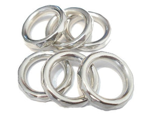 50pc Silver Tone Acrylic Scarf Rings Fit Pendant Scarf Accessory Receive In 4 Days