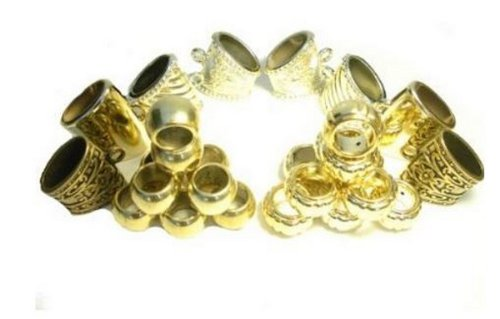 Wholesale 28pcs Scarf Accessories Scarf Rings Bails Gold Tone Receive in 4 Days
