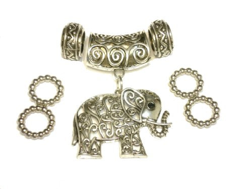 DIY Vintage Elephant Pendants Scarf Accessory Sold 8pcs Valentine's Day Gift Delivery 3 To 5 Days