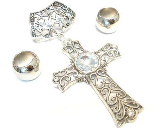 Antique Classic Cross Pendant Jewelry Set Pendant for Scarves