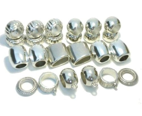 Fashion Jewelry Acrylic Scarf Bails Rings 24pc Pendant Charm Tubes Accessories Receive in 4 Days