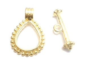 2 Sets Gold Plated Toggles Clasps Jewelry Making Supply
