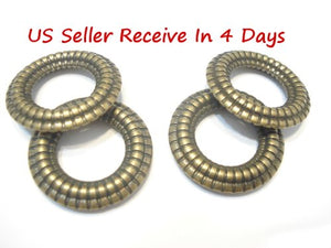 Delivery 4 Days DIY Antique Bronze Acrylic Scarf Rings Pendant Accessory S01209 Sold 12pcs