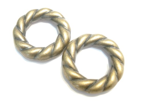Scarf Rings Twisted Antique Bronze Acrylic For Pendant Accessory S01217 Sold 12pcs Delivery 4 Days