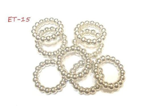 Wholesale Scarf Jewelry Accessory 6 Design Scarf Rings Slides Sold Per 50Pcs (ET-15 50pcs)