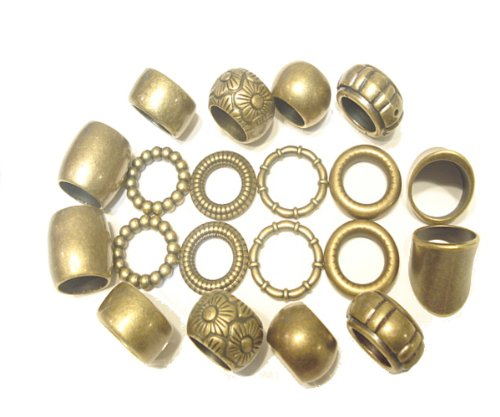 Scarf Rings Bronze Rings 10 Designs 20pcs Fancy Scarf Rings Pendant Jewelry Accessory