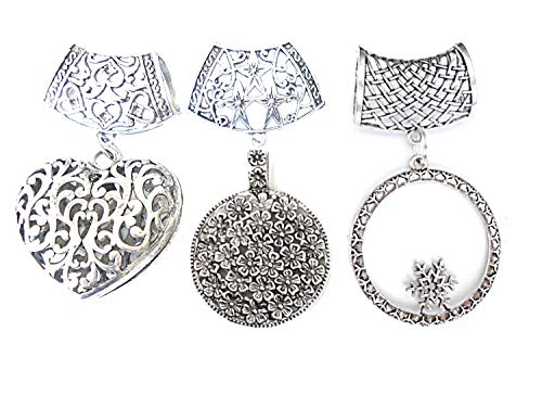 Wholesale Wholesale 3 Style Metal Alloy Vintage Scarf Pendants Pacakge Sold 6pcs Delivery In 3 To 5 Days