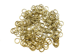 Jump Rings 3mm, 4mm,5mm,6mm,7mm,8mm,10mm,12mm Open Connectors Jewelry Findings (6mm (0.8mm) bronze - 500pcs)