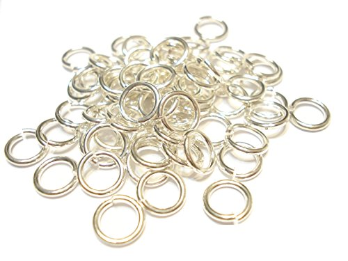 Jump Rings 3mm, 4mm,5mm,6mm,7mm,8mm,10mm,12mm Open Connectors Jewelry Findings (9mm (0.8) silver - 400pcs)