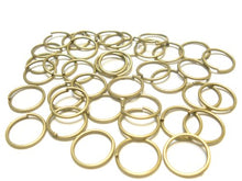 Load image into Gallery viewer, 100pcs Firm Large Jump Rings Fit For Scarf Jewelry, Gold / Bronze