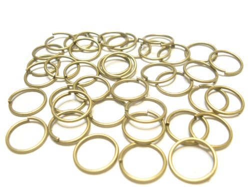 100pcs Firm Large Jump Rings Fit For Scarf Jewelry, 3 Color (Antique Bronze Jump Rings)