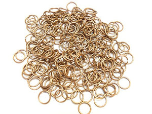 Jump Rings 3mm, 4mm,5mm,6mm,7mm,8mm,10mm,12mm Open Connectors Jewelry Findings (5mm (0.7mm) copper - 800pcs)