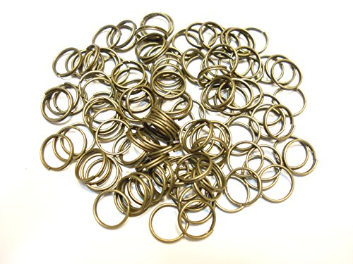 Jump Rings 3mm, 4mm,5mm,6mm,7mm,8mm,10mm,12mm Open Connectors Jewelry Findings (7mm (1mm) bronze- 400pcs)