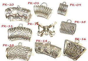 18pcs MetalSilver Fashion Scarf Slides Bails Pendant Scarf Accessory 2- 4 Days