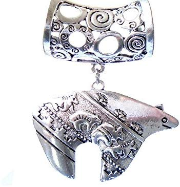 FASHION JEWELRY Scarf Pendants Silver Jewelry Snow Bear Scarf Slides Rings