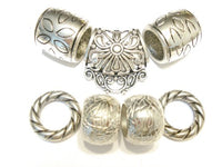 New Arrival Scarf Jewelry Accessories 7pcs Classic Metal Floral Bails Silver Tone, Receive in 4 Days