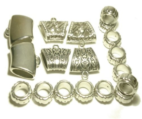 Scarf Rings Bails 18pcs Wholesale Multiple Style Silver Plated Scarf Accessory