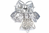 6pcs Mix Scarf Necklace Clips Flower Hollow Dragonfly Pattern S874