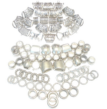 Load image into Gallery viewer, Scarf Jewelry Wholesale Super Package 84pcs Silver Tone S04714