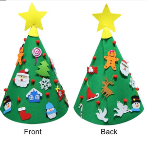 Felt Christmas Tree 3D Felt Ornaments Children For Toddler Playing Christmas Decor