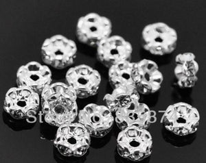 100pcs 6mm Crystal Spacers Flower Shape For Making Jewelry Findings