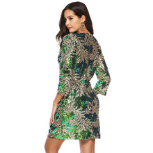 Load image into Gallery viewer, Women Sequin Dress Sequined Glitter Long Sleeves Christmas Party