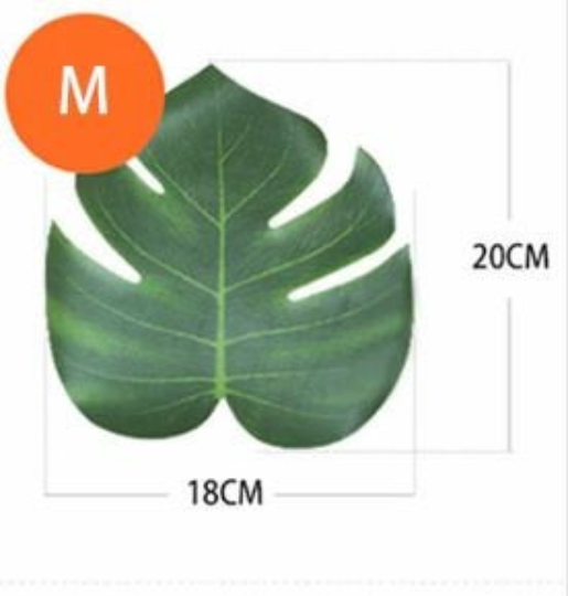 12Pcs Artificial Tropical Palm Leaves Plastic Leaves Wedding Celebration Home Decor US Seller