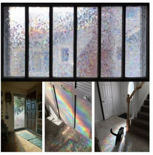 Load image into Gallery viewer, Rainbow Window Film Decorative Privacy Glass Door Non-Adhesive Heat Control Sticker Fall Decor