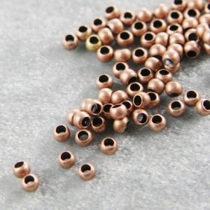 Crimp Beads & Tubes 800pcs (3mm) Antique Copper