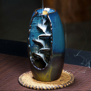 Zen Incense Holder Waterfall Backflow Incense Burner Meditation Ceramic Incense Burner backflow