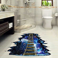 Load image into Gallery viewer, Floor Decor Large 3d Cosmic Space Floor Wall Sticker Galaxy Star Bridge F021
