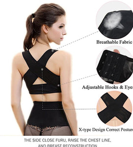 Women Girdle Shapewear Chest Posture Corrector Support Belt Body Shaper H01