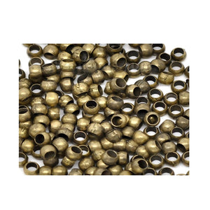 Crimp Beads & Tubes 800pcs (2mm) Antique Bronze
